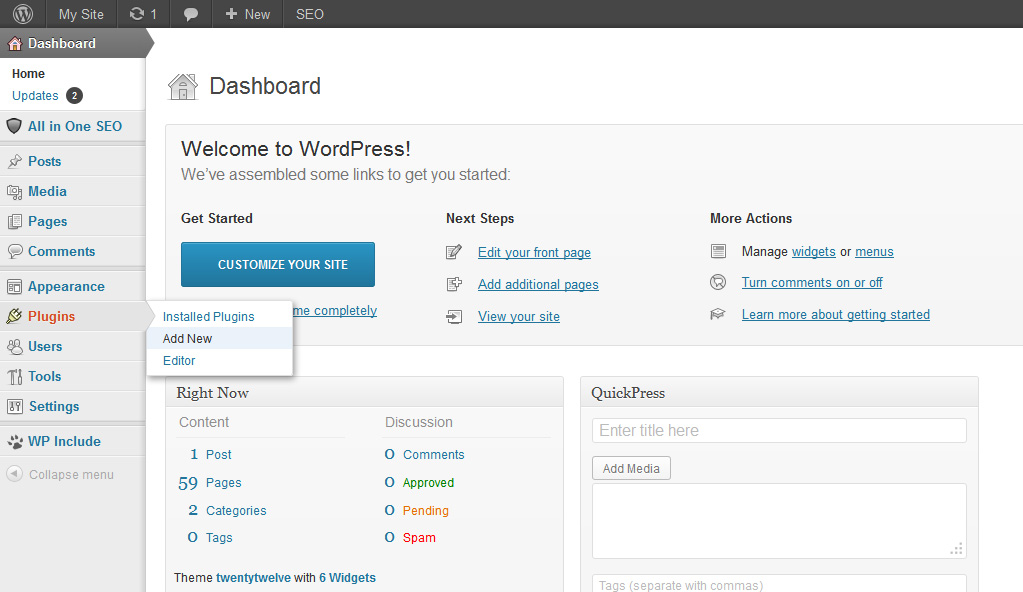 plugin How to Include PHP file to WordPress