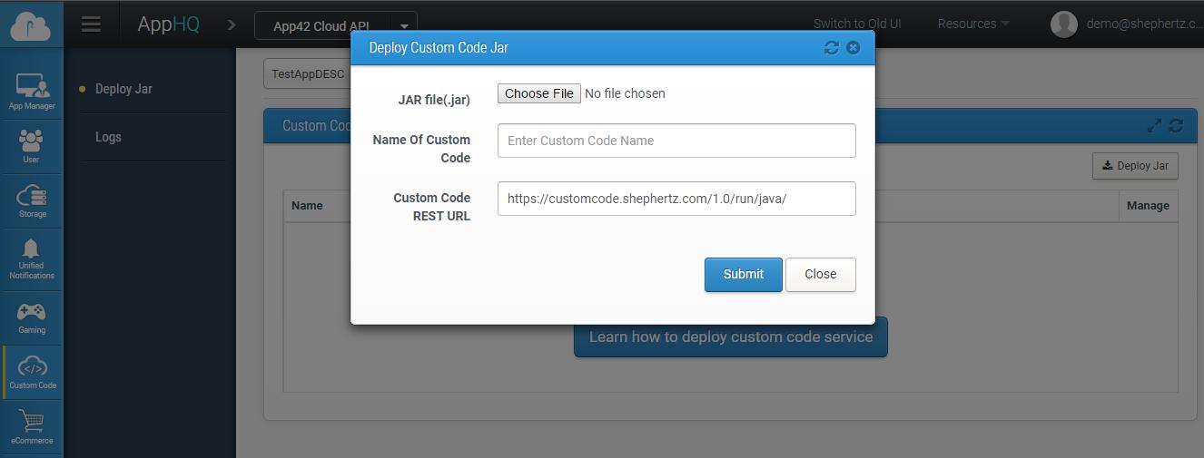 APPHQ Custom Code