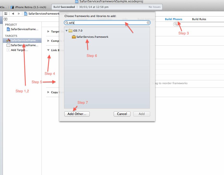 Adding Framework Image